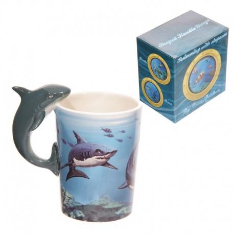 Mug Requin par Lisa Parker