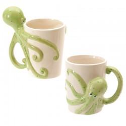 Mug céramique décor Lisa Parker - Anse pieuvre
