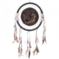 Attrape-rêve motif loup par Lisa Parker - 33cm -