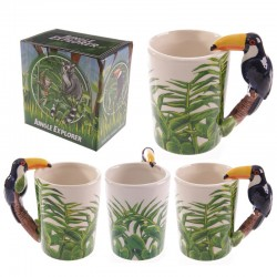Mug avec anse toucan - Design jungle