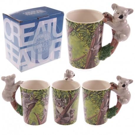 Mug avec anse koala - Design forêt