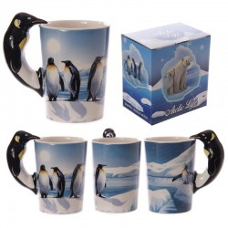 Mug avec anse pingouin - Design continent arctique