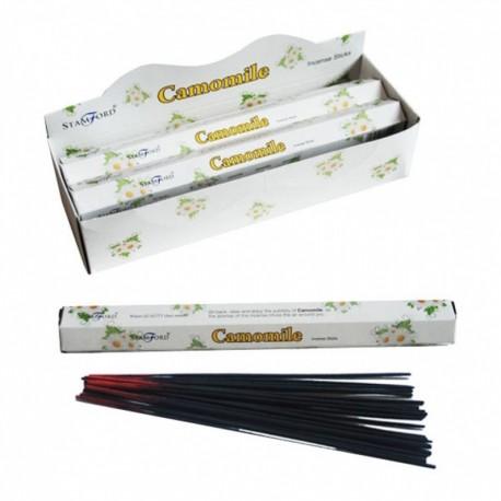 Bâtonnets d'encens Stamford Premium - Camomille (37313) ~ Lot de 6 ~