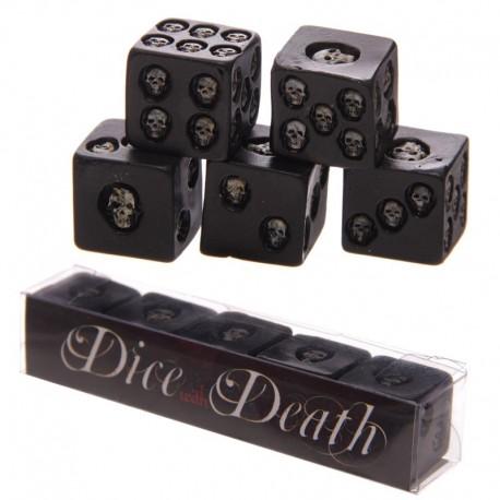 Set de 5 dés à 6 faces - Crânes