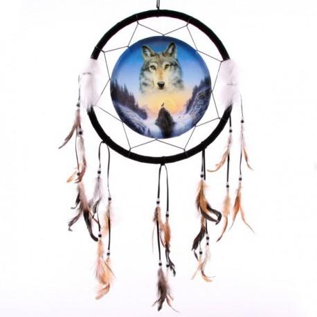 Attrape-rêves Impression Loup et crépuscule, Modèle moyen