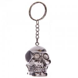 Porte-clés - Crâne avec yeux de cristal