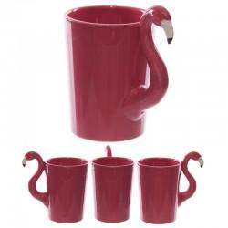 Mug fantaisie - Poignée flamand rose