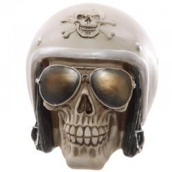 Crâne macabre - Casque et lunettes de soleil