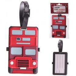 Étiquette à bagage - Bus londonien