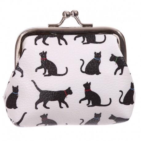 Porte-monnaie - Design silhouettes de chats