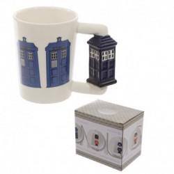 Mug avec anse en forme de cabine de police anglaise