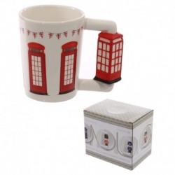 Mug avec anse en forme de cabine téléphonique anglaise
