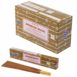 Bâtons d'encens Satya - Arabian Musk ~ Lot de 12 ~